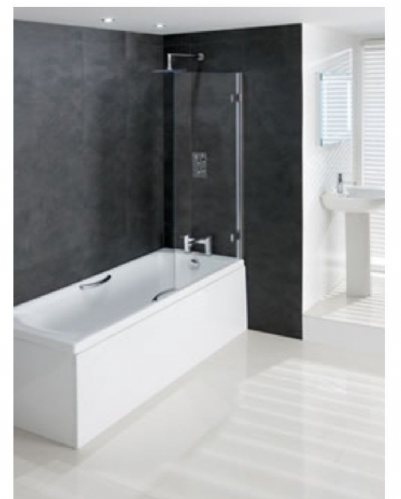 Eastbrook Volente 1 Fixed 2 Hinge Bath Screen 1475x1550mm 58.709